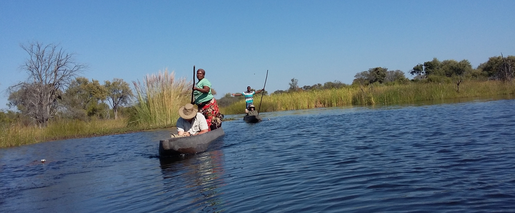 Mokoro ride on the botswana tours