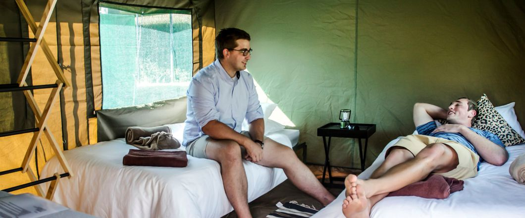 Tent Hotel bushfire