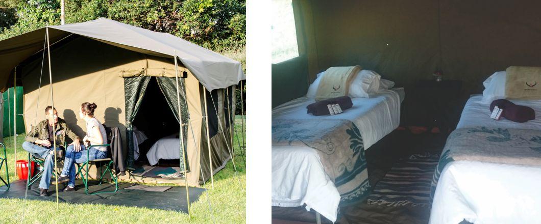 Tent Hotel mtn bushfire